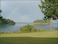 A Rainbow at Bennet Bay