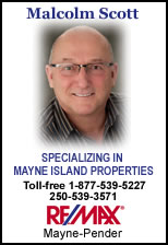 Malcolm Scott - Specializing in Mayne Island Properties